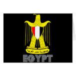 Emblema egipcio tarjetas