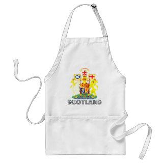 emblema escocés delantal