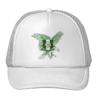 Emblema estupendo del fútbol de Naija Eagle Gorras De Camionero