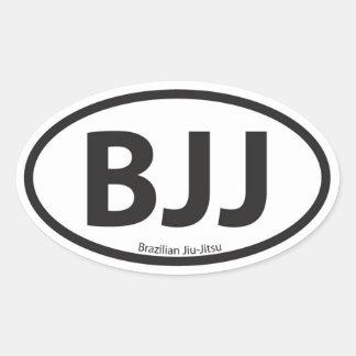 Emblema euro del coche del estilo de BJJ Pegatina Ovalada