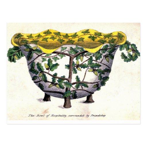Emblema floral de la amistad antigua de la postales