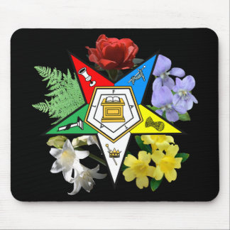 Emblema floral Mousepad de OES Tapetes De Raton