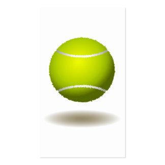 Emblema fresco 2 del tenis tarjetas de visita