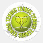 Emblema fresco del tenis etiquetas redondas