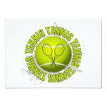 Emblema fresco del tenis invitacion personalizada