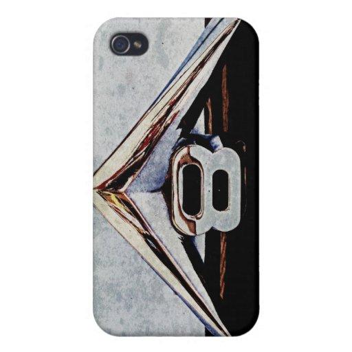 Emblema grande del bloque de V8 del Grunge iPhone 4 Funda