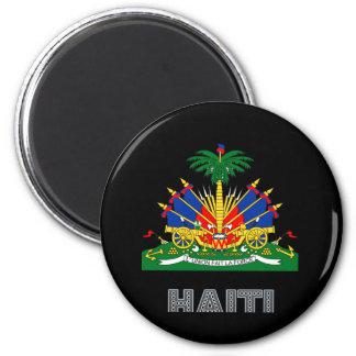 Emblema haitiano imán redondo 5 cm