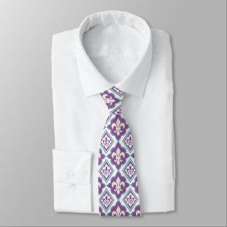 Emblema heráldico de la flor de lis corbata personalizada