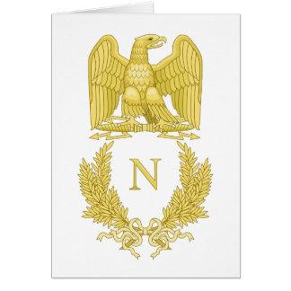 Emblema imperial de la tarjeta de felicitación de