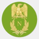 Emblema imperial de Napoleon I Eagle en el Etiqueta Redonda