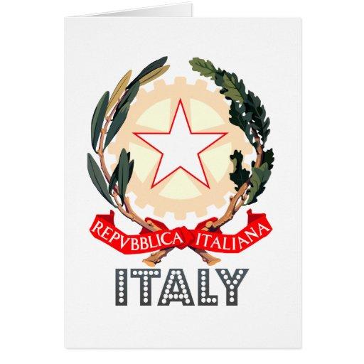 Emblema italiano tarjeton