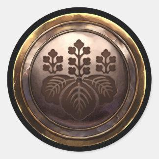 Emblema japonés (Kamon) Etiquetas Redondas