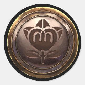 Emblema japonés (Kamon) Pegatinas Redondas