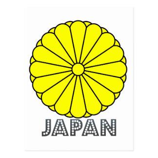 Emblema japonés tarjeta postal