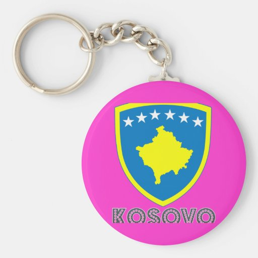 emblema kosovan llavero redondo tipo pin