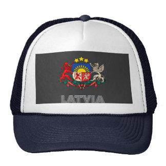 Emblema letón gorra