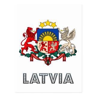Emblema letón tarjeta postal
