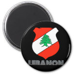 Emblema libanés imán de nevera