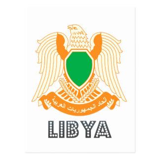 Emblema libio tarjeta postal