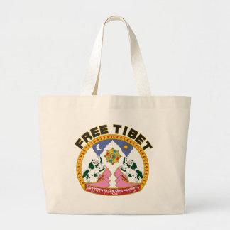 Emblema libre de Tíbet Bolsas