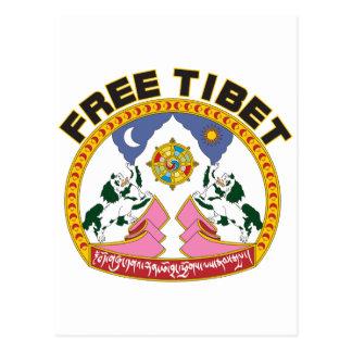 Emblema libre de Tíbet Postal