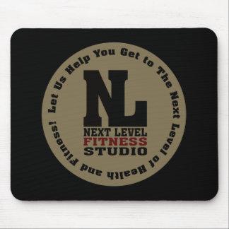 Emblema llano siguiente del estudio de la aptitud mouse pad