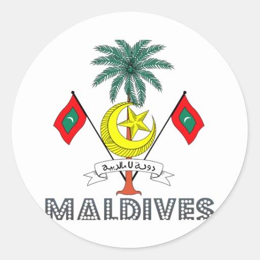 Emblema maldivo pegatina