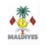 Emblema maldivo postales