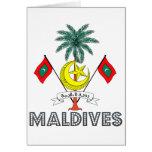 Emblema maldivo tarjetas