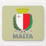 Emblema maltés alfombrillas de ratón