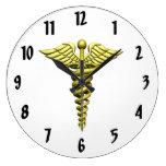 Emblema médico reloj