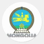 Emblema mongol pegatinas redondas