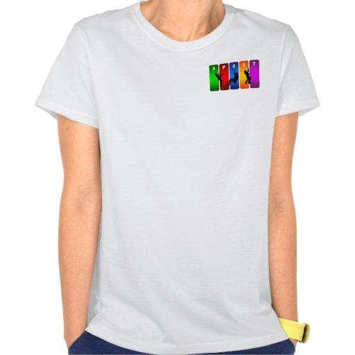 Emblema multicolor de la escalada camiseta