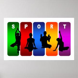 Emblema multicolor de la yoga posters