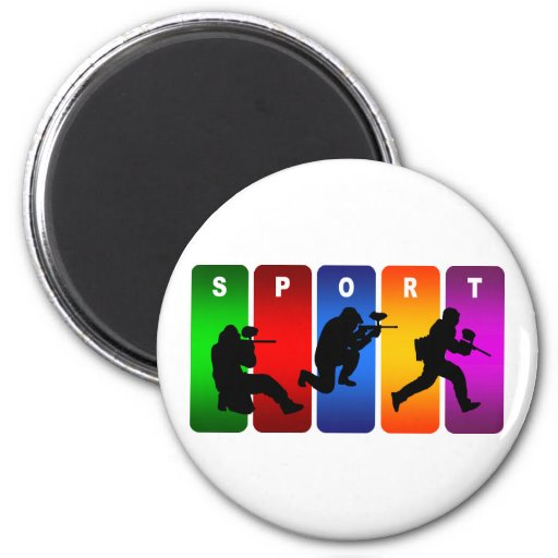 Emblema multicolor de Paintball Imanes De Nevera