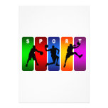 Emblema multicolor del baloncesto invitacion personalizada