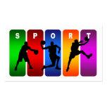 Emblema multicolor del baloncesto tarjeta de visita