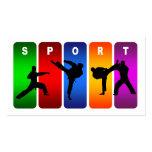 Emblema multicolor del karate tarjeta de visita