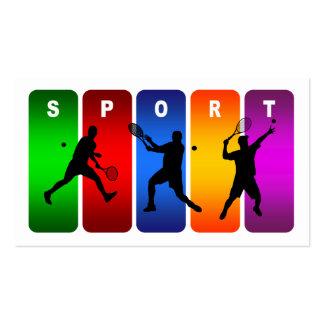 Emblema multicolor del tenis (varón) tarjetas de visita