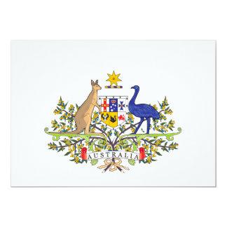 "Emblema nacional australiano invitación 5"" x 7"""