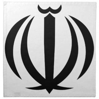 Emblema nacional de Irán Servilletas