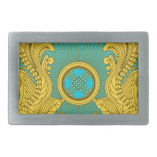 Emblema nacional de Kazajistán Hebilla De Cinturon Rectangular
