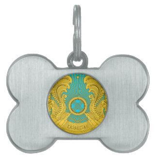 Emblema nacional de Kazajistán Placas De Nombre De Mascota