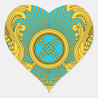 Emblema nacional de Kazajistán Pegatina Corazón