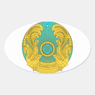 Emblema nacional de Kazajistán Calcomania Ovalada