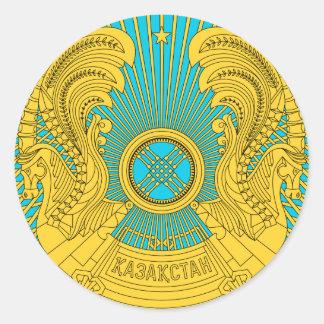 Emblema nacional de Kazajistán Etiqueta Redonda