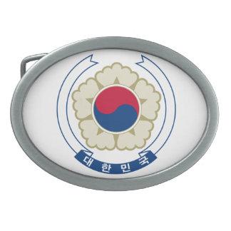 Emblema nacional de la Corea del Sur Hebilla Cinturón Oval