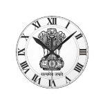 Emblema nacional de la India Relojes De Pared