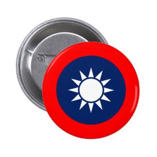Emblema nacional de la República de China (Taiwán) Pin Redondo De 2 Pulgadas