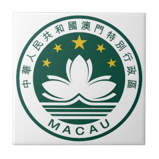Emblema nacional de Macao (China) Teja Ceramica